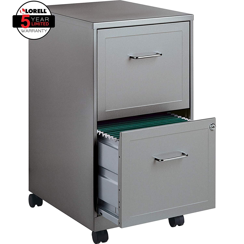 Lorell 16873 2 Drawer Mobile File Cabinet 18 Inch Depth Biz Idea Shower