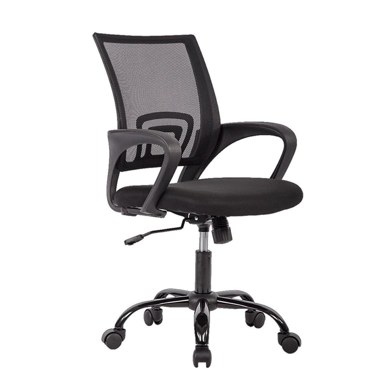 Miraculous Black Chair Desk Ergonomic Swivel Executive Adjustable Task Midback Computer Stool With Arm Cjindustries Chair Design For Home Cjindustriesco